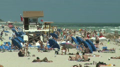 Stock Video Footage of Overpopulated Miami Beach, Florida