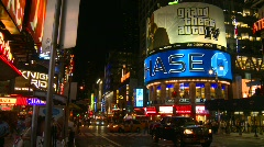 New York City, Times Square, night, #2 - stock footage