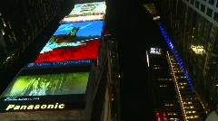 New York City, Times Square, night, #7 extreme high angle locked off wide Stock Footage