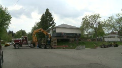 House moved off it's foundation, #2 Stock Footage