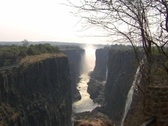Stock Video Footage of Victoria Falls Dry Season