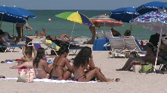 Sexy women in Miami Beach, Florida Stock Footage
