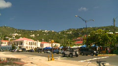 StThomas old town, #18 traffic Stock Footage