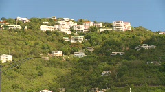 St.Thomas old town, #13 hillside Stock Footage