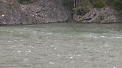 River and waterfall, whitewater raft on river, #3 Stock Footage