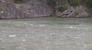 Stock Video Footage of river and waterfall, whitewater raft on river, #3