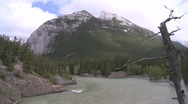 Stock Video Footage of Bow river and mountains