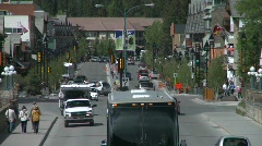Banff town icon shot, #10 zoom back - stock footage