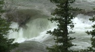 Stock Video Footage of river and waterfall, Elbow falls, #3