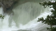 Stock Video Footage of river and waterfall, Elbow falls, #4