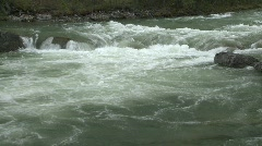 River and waterfall, river rapids, small falls Stock Footage