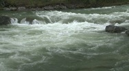Stock Video Footage of river and waterfall, river rapids, small falls