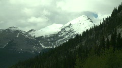 Snow peak and forest Stock Footage