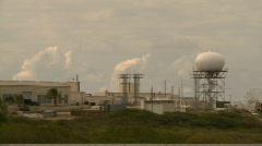 Radar dome, tropical island Stock Footage