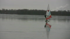 Surfing on ice 3 - stock footage