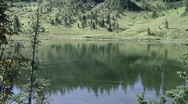 Alpine Lake in the Cascade Moutains Stock Footage