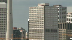 """Calgary skyline, zoom back from Scotsman hill pre-""""the Bow"""" Stock Footage"""