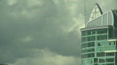 Skyline condo, credit roll offset frame Stock Footage