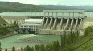 Stock Video Footage of dam Ghost, #2 and reservoir