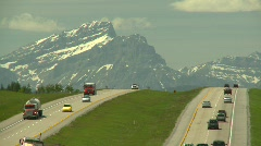 Rocky Mountains and Trans-Canada Highway  Stock Footage