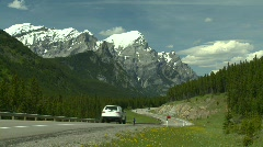 Mountain highway, S turn and cars Stock Footage