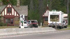 Banff National Park, #5 gates, traffic Stock Footage