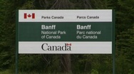 Stock Video Footage of Banff National Park, #1 gates sign