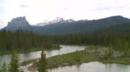 Stock Video Footage of Mountain and river, Banff