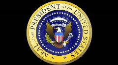 Presidential Seal 01 w/ Alpha (24fps) Stock Footage