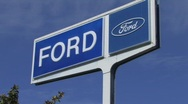 Ford Sign Stock Footage