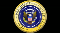 Presidential Seal 01 w/ Alpha (25fps) Stock Footage
