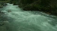 River and waterfall, mountain creek, big water Stock Footage