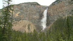 River and waterfall, Takakkaw  falls Stock Footage