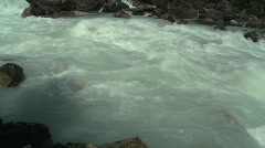 River and waterfall, mountain creek, fast flow Stock Footage