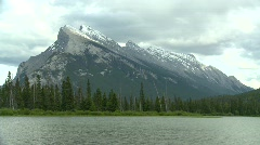 Mt Rundle iconic, Banff Stock Footage