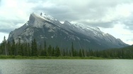 Stock Video Footage of Mt Rundle iconic, Banff