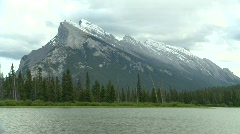 Mount Rundle, Banff Stock Footage