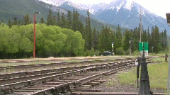 Railroad, intermodal container train in the mountains Stock Footage