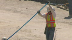 Highway Construction workers Stock Footage