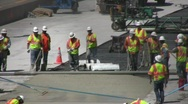 Stock Video Footage of Highway Construction Crew