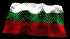 Glowing Bulgarian Flag - Bulgaria 05 (HD) Stock Footage
