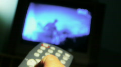 Surfing television channels Stock Footage