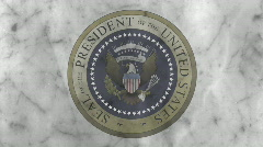 Presidential Seal 04 (24fps) Stock Footage