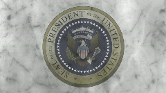Presidential Seal 04 (25fps) Stock Footage
