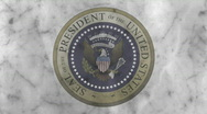 Presidential Seal 04 (25fps) Stock Footage
