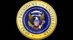 Presidential Seal 01 w/ Alpha (30fps) Stock Footage