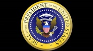 Stock Video Footage of Presidential Seal 01 w/ Alpha (30fps)