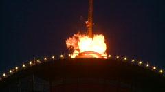 Calgary tower flame, #1 Stock Footage
