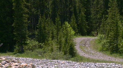 Sports and fitness, mountain biking on mountain trail, #4 Stock Footage