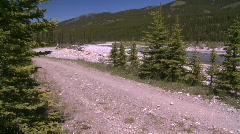 Sports and fitness, mountain bike on mountain trail, #2 Stock Footage